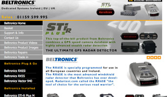 Beltronics Radar Detectors For ireland, EU and UK, Bel RX65i, RX55, Stir Plus