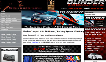 Blinder Compact 905 Website