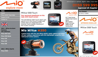 Mio Mivue Website - Dash Cameras