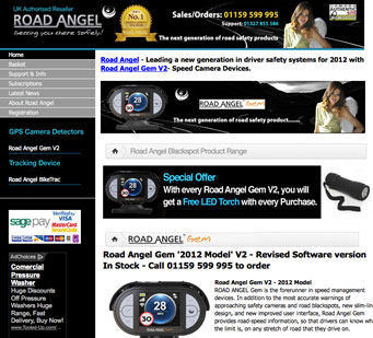 Road Angel Gem - Speed Camera Alert System