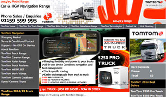 TomTom Truck portable GPS car navigation systems